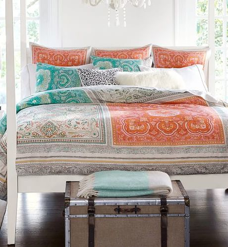 colorful patchwork duvet