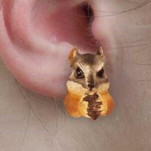 Chipmunk Post Earrings