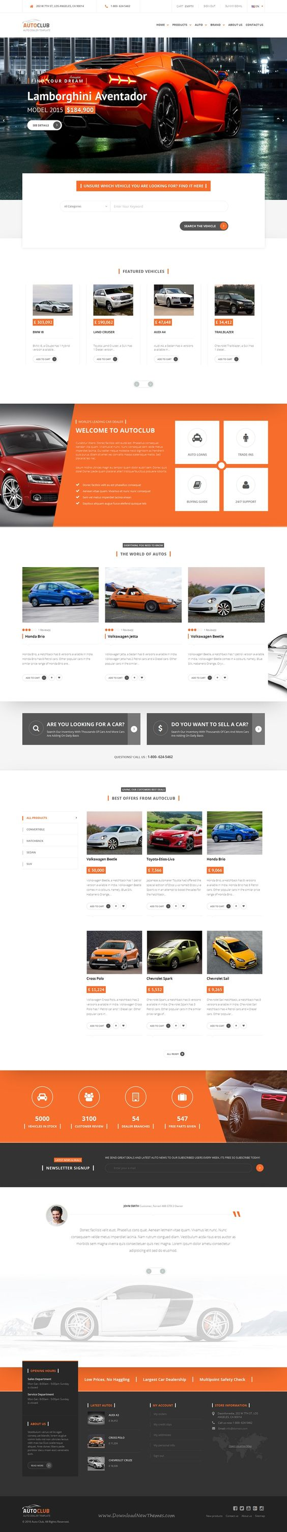 Auto Club is Responsive #Prestashop Theme for #Car Dealer #Website. Download Now!