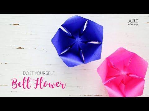 Paper Bellflower Easy Paper Flowers Diy Origami Youtube Paper Flowers Easy Paper Flowers Paper Flowers Diy