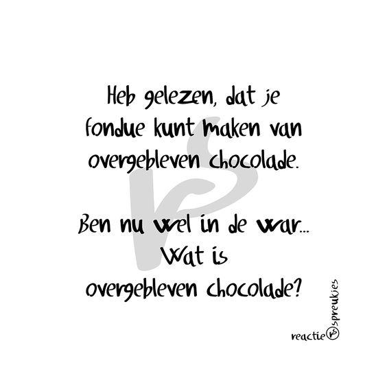 Wat is overgebleven chocolade? #fondue #humor #eten #snoepen