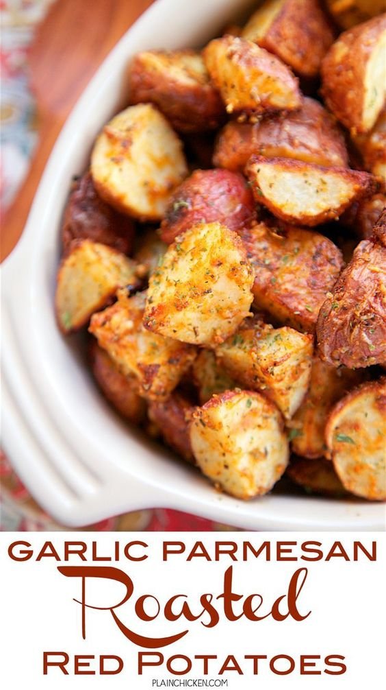 Garlic Parmesan Roasted Red Potatoes - red potatoes tossed in garlic ...