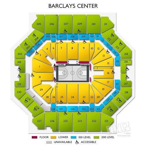 Barclays Center Seating Chart Barclays Center Seating Charts Inspiration