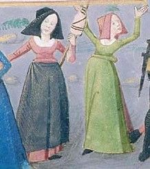 Book of Hours (PML, m1001.088r) Poitiers, France, ca. 1475 Short hoods? Or do we just not see the trailing part at the back?