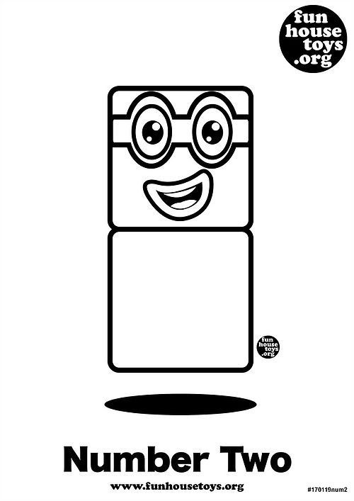 Numberblocks Two Printable Coloring Page Coloring For Kids Printable Coloring Pages Coloring Pages