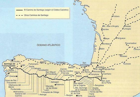 Camino de Santiago según Códice Calixtino