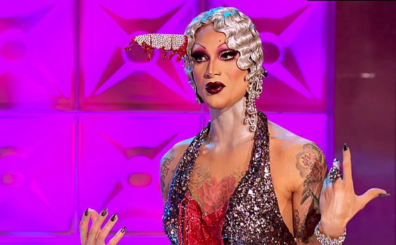 First things first, we need to talk about Violet Chachki's cinch job. Holy Ornacia! Violet would be a negative-60 waist if she ever shopped at Old Navy. In real life, I'm not in favor of anyone slimming down to that level, but in a drag competition, her 16-inch midsection is giving me more lives than a Super Mario mushroom, even as it drains all the life from Violet's lower extremities. (A gamer gay just informed me that the Mario analogy doesn't make sense, but I'm keeping it).