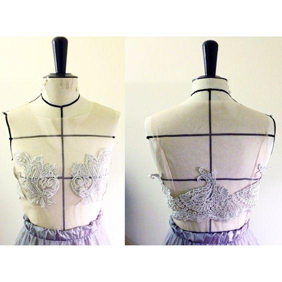 Hillscouture - lace crop top - bride - wedding
