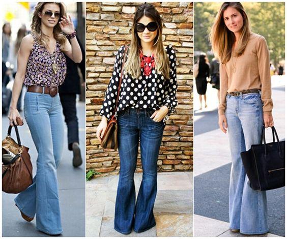 Calça Flare Jeans - Corpo Triângulo Invertido