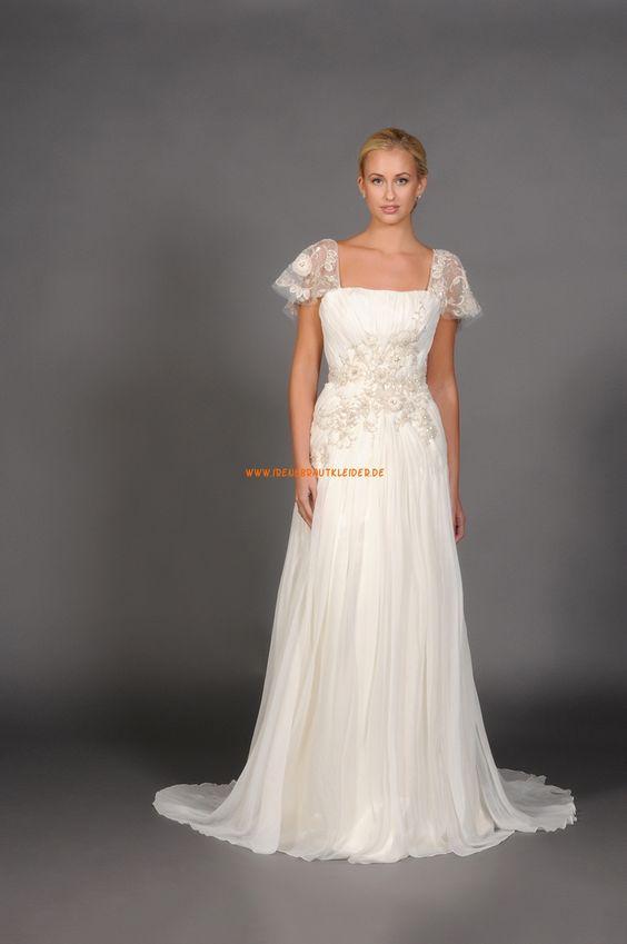 Romantische Aparte Hochzeitskleider aus Chiffon