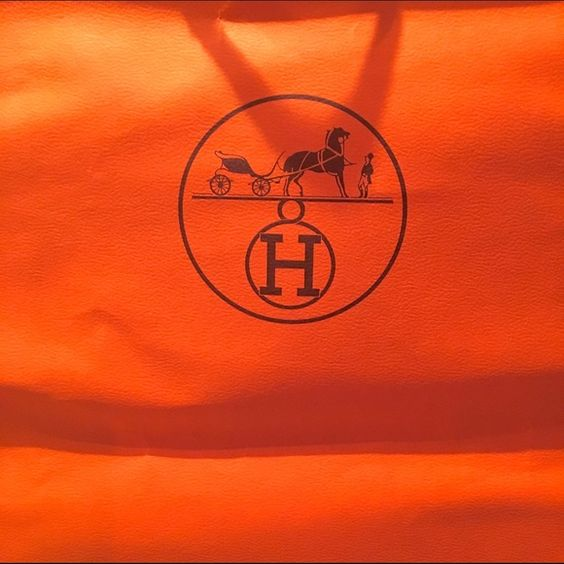 "Hermes Gift Bag (Large Size) Authentic Hermes gift bag/ shopping bag. Great for re-gifting that scarf, or adding value to your  Hermes piece on Poshmark!  I don't condone dishonesty, though  size: 17""L X 11"" W X 4""D Hermes Bags"