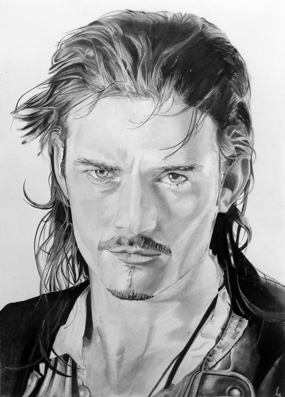 Orlando Bloom by Portrait Lc  https://www.facebook.com/PortraitLc  #art #drawing #Graphit #portrait #black #white