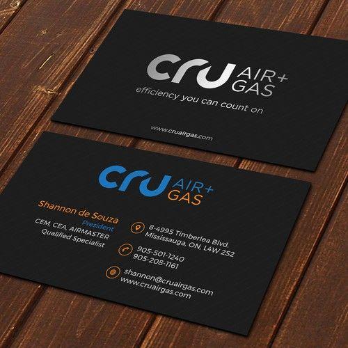 Cru Air Gas Business Card Design Project Business Card Contest Design Business Card Shannona Card Design Custom Business Cards Business Card Design
