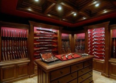 wood-cabinet-designs-gun-room