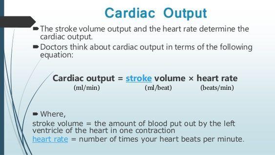 Cardiac Output Formula Cardiac Nursing Tips Emt Study
