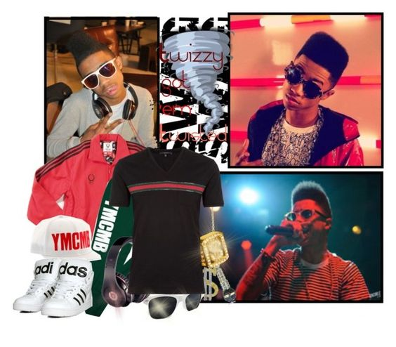 """""""Twizzy got 'em twisted"""" by fashionablepix ❤ liked on Polyvore featuring adidas, Andrew Hamilton Crawford, Freestyle, Beats by Dr. Dre, Gucci, fun, matching, ymcmb, headphones and hip hop"""