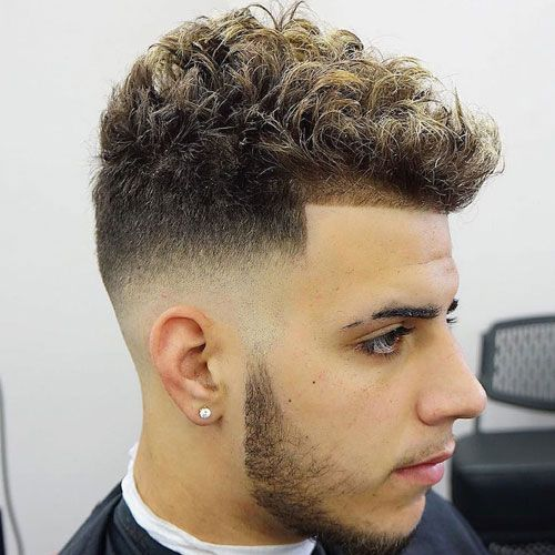39 Best Curly Hairstyles Haircuts For Men 2020 Styles Curly Hair Fade Fade Haircut Haircuts For Wavy Hair