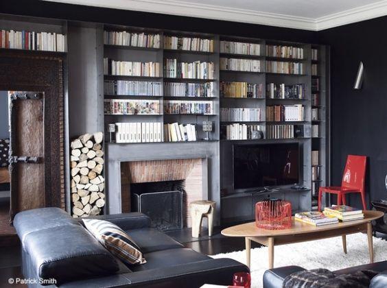 on aime le rangement pour les buches l 39 int gration de la t l mais le tout est un peu trop. Black Bedroom Furniture Sets. Home Design Ideas