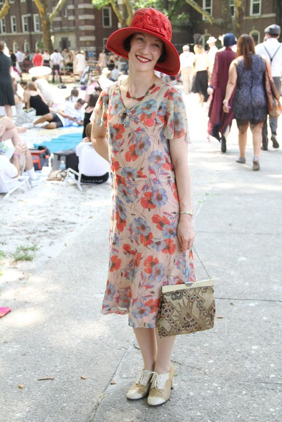 On the grounds of Governors Island's Jazz Age Lawn Party