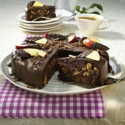 Brownie -Apfeltorte