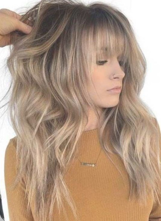 Fashionable Blonde Hair Ideas For Winter 2019 Blonde Hair With Bangs Winter Blonde Hair Long Hair Styles
