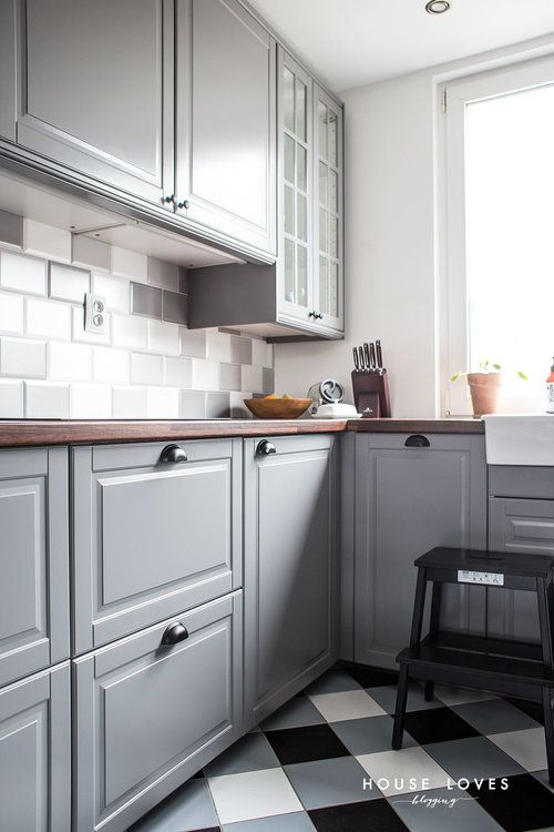 Projekt Kuchni Z Szarymi Frontami Ikea Bodbyn House Loves Kitchen Design Small Ikea Bodbyn Kitchen Kitchen Decor