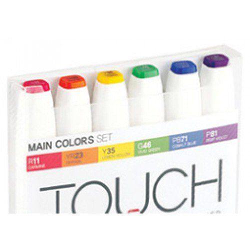 Shinhan Touch Twin Art Markers Flexible Brush Medium Chisel Tips