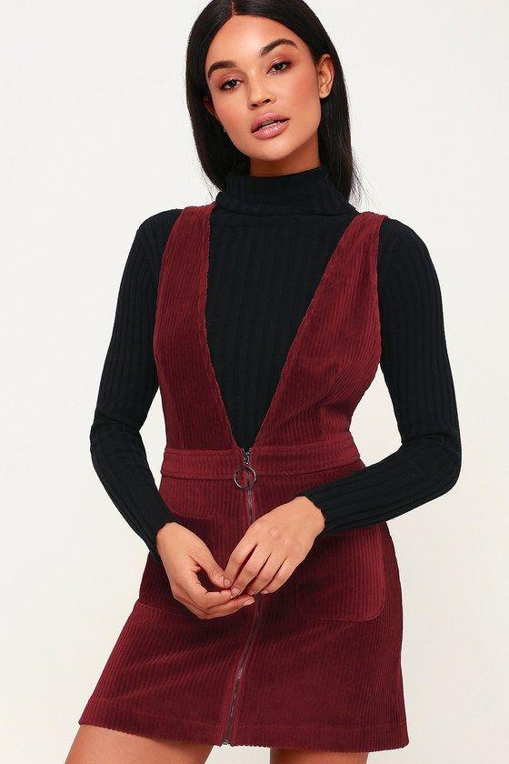 48+ Burgundy cord pinafore dress ideas
