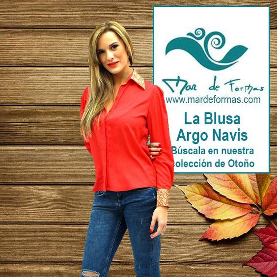 La Blusa Argo Navis Búscala en nuestra Colección de Otoño http://www.mardeformas.com/es/208-blusa-argo-navis.html
