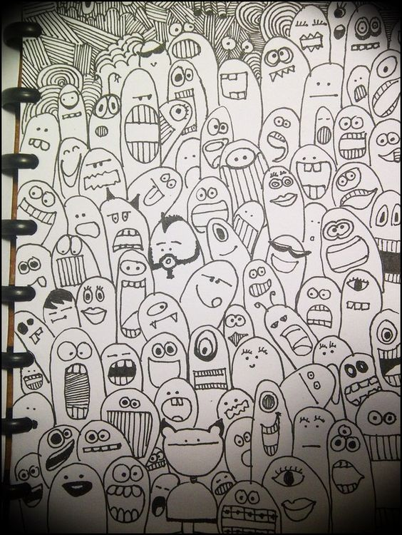 simple cartooning-monsters   Drawings and posters ...