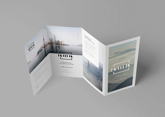 Free Photo Realistic Folded Brochure Mockup Zippypixels Brochure Mockup Free Brochures Mockups Mockup Free Download