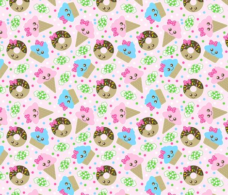 http://www.spoonflower.com/fabric/4464992-kawaii-snacks-by-tictactogs