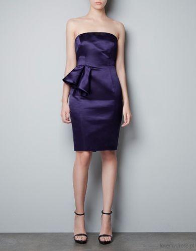 Granatowa sukienka, Zara 299 zł
