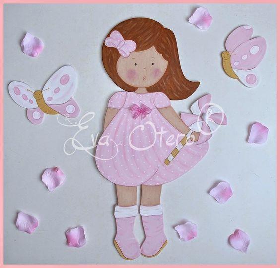 Eva otero siluetas siluetas para ni a cuadros pintados - Cuadros bailarinas infantiles ...
