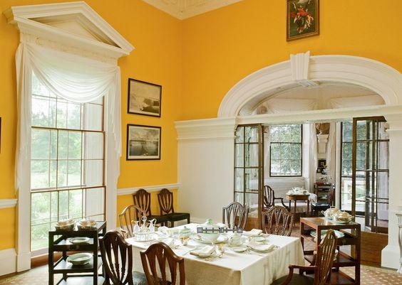 Interiors thomas jeffersons monticello tea room virginia rice university pinterest