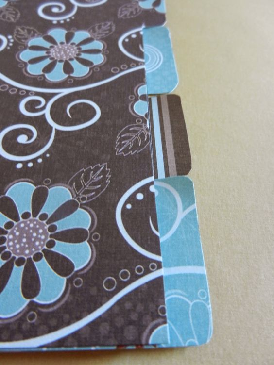 DIY Custom Dividers - Simple steps to creating your own file dividers.