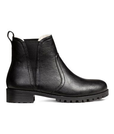 Warm-lined Chelsea boots | Black | Ladies | H&M AU: