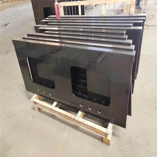 Prefab Laminate Natural Black Marble In 2020 Black Marble Prefab Kitchen Countertop Materials