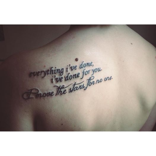 Tattoo Quotes Movies: My Own Tattoo. Quote By David Bowie From The Movie