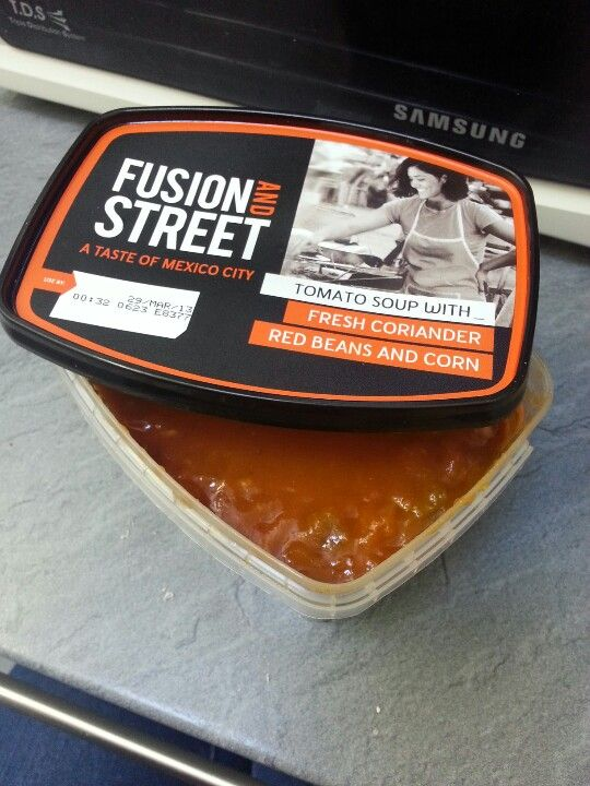 New Fusion & Street A Taste of Mexico City - Tomato Soup with fresh coriander, red beans & corn