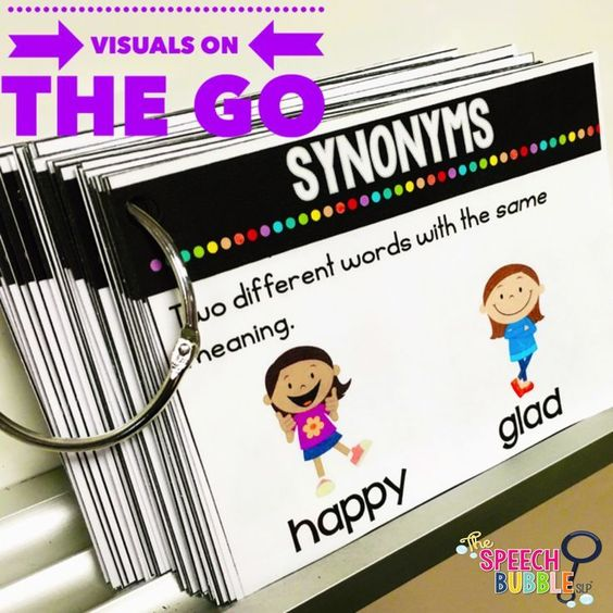 Visuals for language at your finger tips! Never feel unprepared when a student needs some extra support!