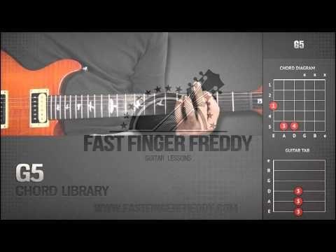 Guitar Chord Library : G Chords - G5 - YouTube | Guitar Chords - \