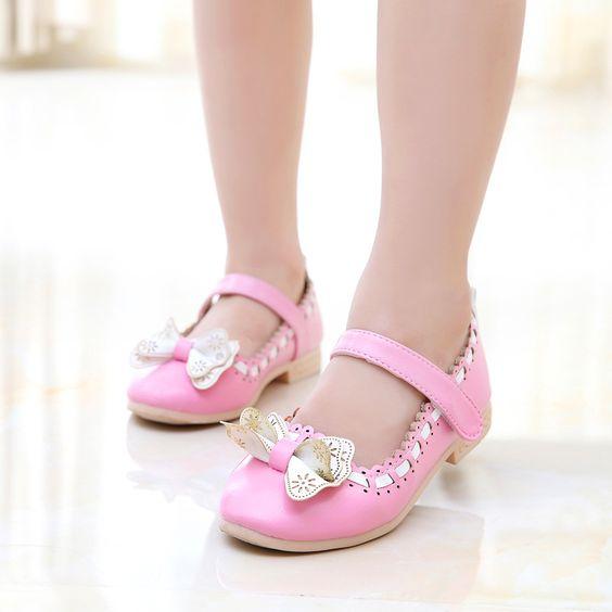 Barato JG Chen Clássico Europeu Verão Meninas Sapatos Da Princesa Doce Com Arco…