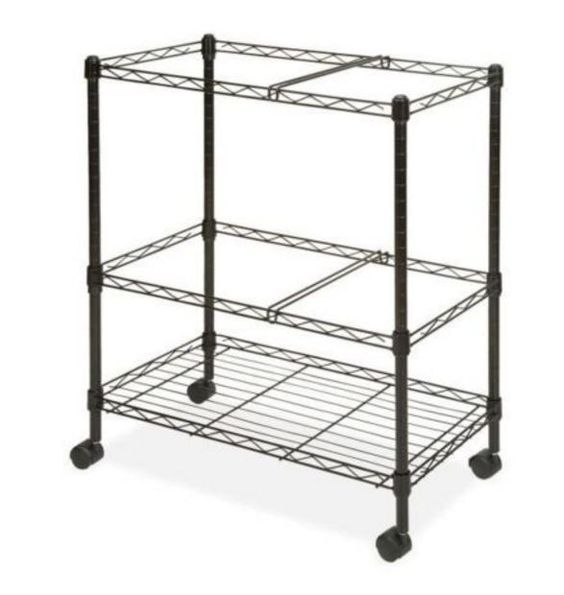Chrome Wire Utility Cart Heavy Duty Commercial Mobile Transport Storage Supply…