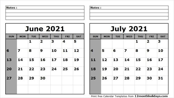May June July 2021 Calendar In 2020 2020 Calendar Template Calendar Template Calendar Printables