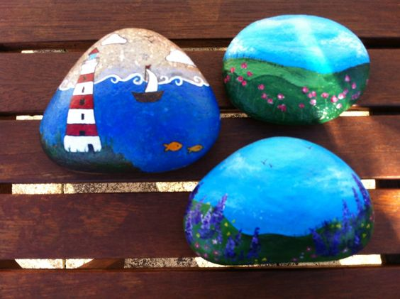 Stones I painted on cornwall
