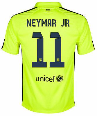 nike critiques presto d'air - NIKE NEYMAR JR FC BARCELONA THIRD 3RD JERSEY 2014/15 Volt/Loyal ...