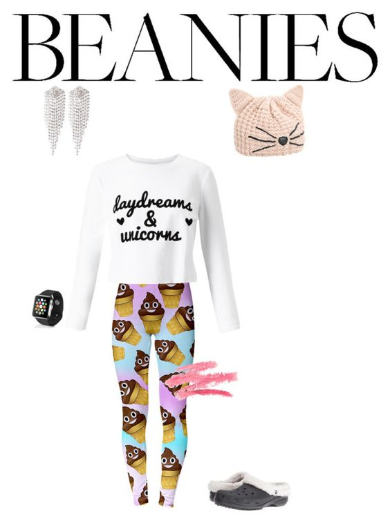 """In Bed"" by divagirl22 ❤ liked on Polyvore featuring Karl Lagerfeld, Miss Selfridge, Apple, sweet deluxe and Crocs"
