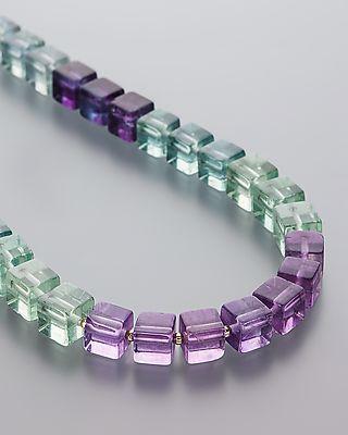 Traumhaftes Collier mit schimmerndem Multi Fluorit #schmuck #jewellery #sognidoro #sogni #d´oro #kette #necklace