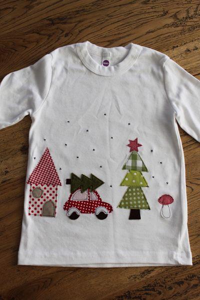 """Shirt+""""+kleine+Winterwelt""""+auf+Wunsch+m.+Namen+von+★Milla+Louise★+auf+DaWanda.com"""
